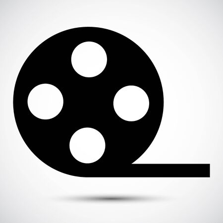 Video Film Icon Symbol Sign Isolate on White Background,Vector Illustration EPS.10