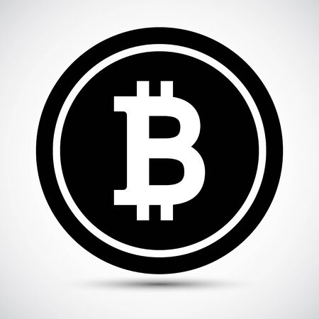Bitcoin Icon Symbol Sign Isolate on White Background,Vector Illustration EPS.10