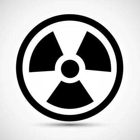 Radiation Traditional Hazard Black Icon Isolated On White Background