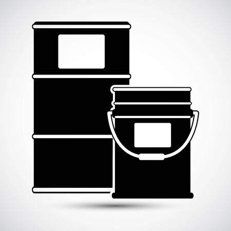 Chemical Drums Black Icon White Background