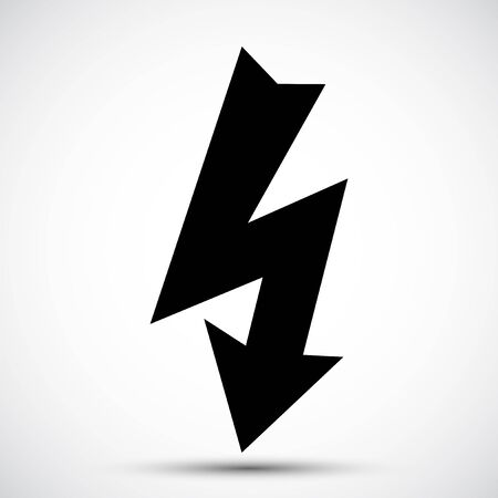 High Voltage Black Icon Isolated On White Background  イラスト・ベクター素材