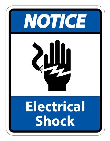 Electrical Shock Electrocution Symbol Sign Isolate On White Background,Vector Illustration EPS.10