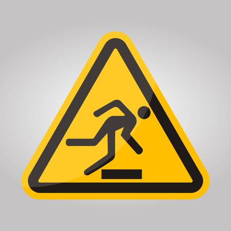 Beware Obstacles Symbol Sign Isolate On White Background,Vector Illustratio Çizim