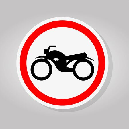 Traffic Road Sign Keep The Motorcycle Ride Sign Isolate On White Background,Vector Illustration Иллюстрация