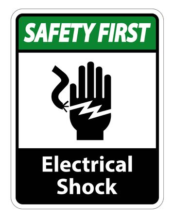 Electrical Shock Electrocution Symbol Sign Isolate On White Background,Vector Illustration EPS.10 写真素材 - 129945530