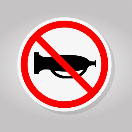 Do Not Use The Sound,Do Not Use The Horn Sign Isolate On White Background,Vector Illustration