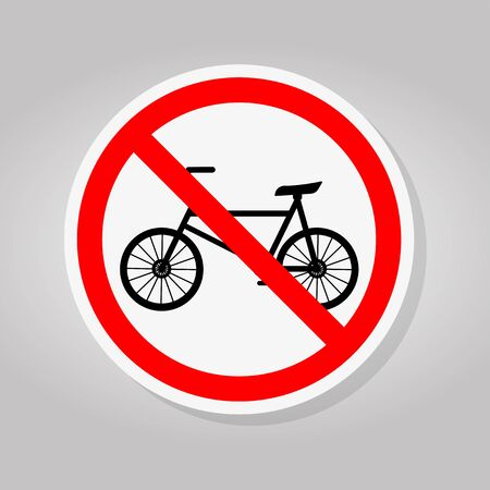Prohibit Bicycle Symbol Sign Isolate On White Background,Vector Illustration