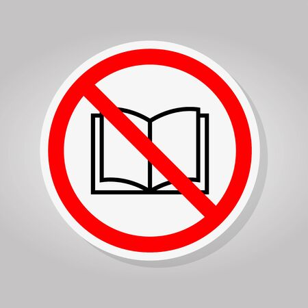 No read a book icons Sign Isolate On White Background,Vector Illustration Illustration