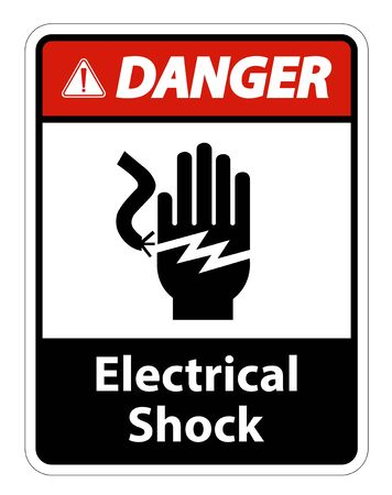 Electrical Shock Electrocution Symbol Sign Isolate On White Background,Vector Illustration EPS.10 写真素材 - 129945680