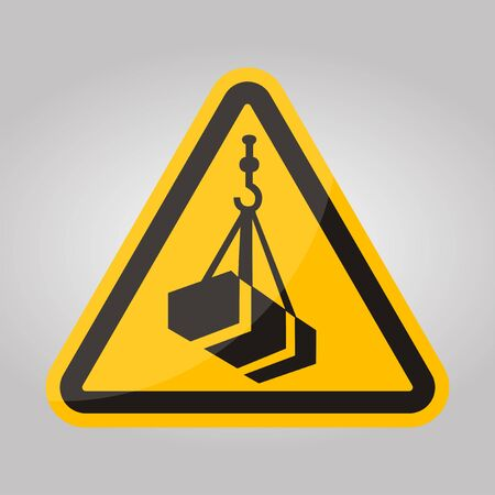Beware Overhead Load Symbol Isolate On White Background,Vector Illustration EPS.10 Ilustração