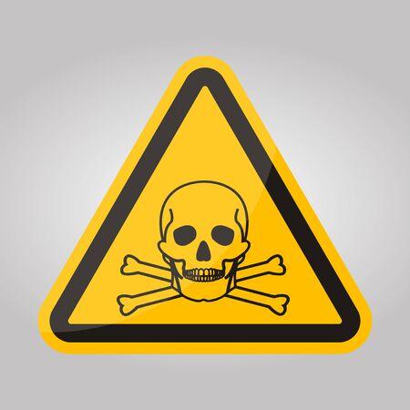 Beware Ammonia Symbol Sign Isolate On White Background,Vector Illustration EPS.10