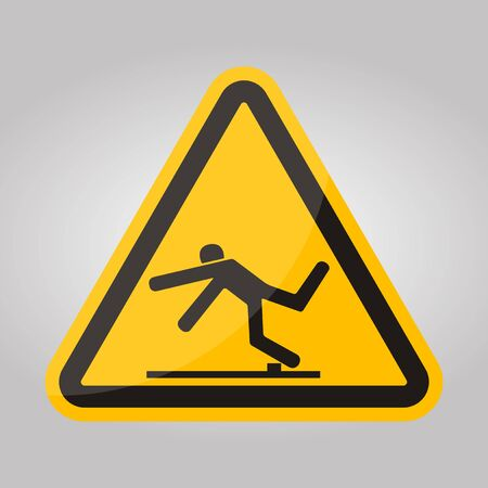 Beware Trip Hazard Symbol Isolate On White Background,Vector Illustration EPS.10 Çizim