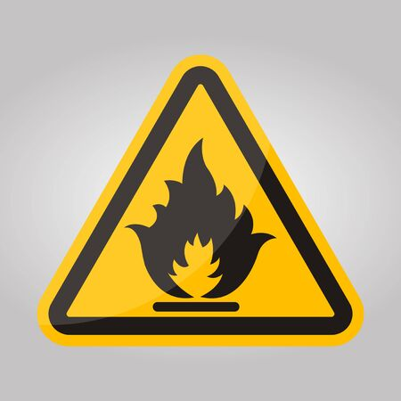 Beware Flammable Gas Symbol Isolate On White Background,Vector Illustration EPS.10