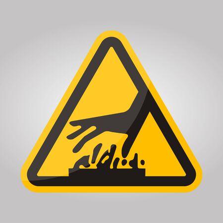 Beware Hot Surface Symbol Isolate On White Background,Vector Illustration EPS.10