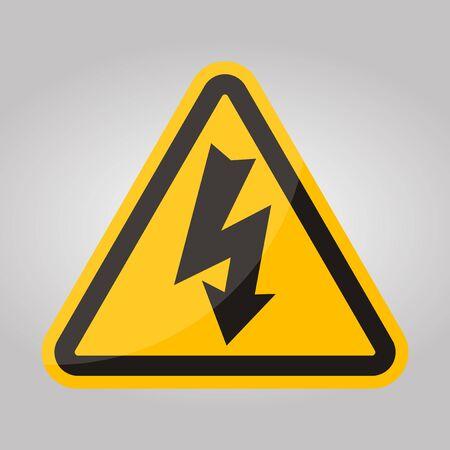 Danger High Voltage Symbol Isolate On White Background,Vector Illustration EPS.10 Vectores