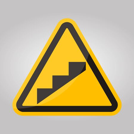 Beware Slope Step Symbol Isolate On White Background,Vector Illustration EPS.10 Çizim