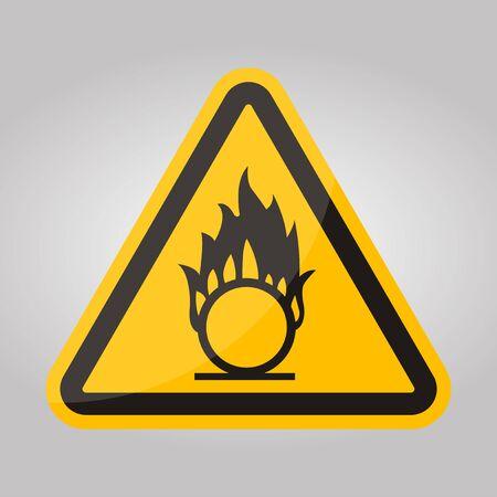 Beware Oxidizing Substance Symbol Isolate On White Background,Vector Illustration EPS.10 Illusztráció