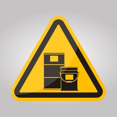 Chemical Storage Area Symbol Isolate On White Background,Vector Illustration EPS.10