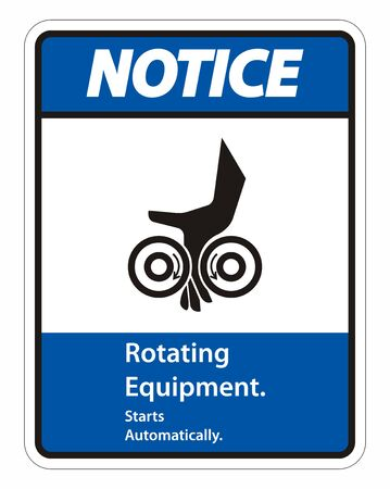Rotating Equipment.Starts Automatically Symbol Sign Isolate on White Background,Vector Illustration
