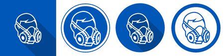 Symbol Wear Respirator sign on white background Vetores
