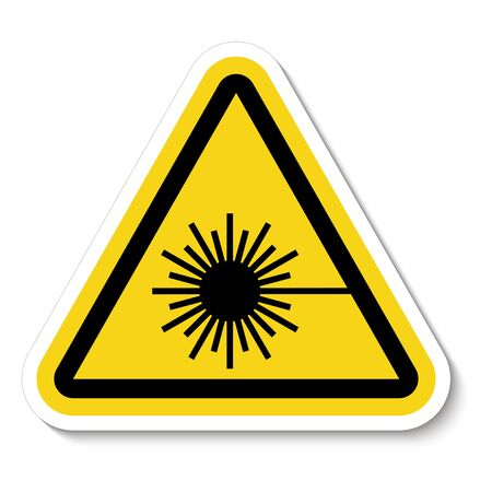 Beware Laser Beam Symbol Sign Isolate on White Background,Vector Illustration Stok Fotoğraf - 131850368
