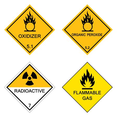 Warning Hazardous chemical danger Symbol Sign Isolate on White Background,Vector Illustration