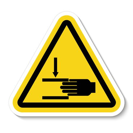 Hand Crush Force From Above Symbol Sign Isolate on White Background,Vector Illustration  Çizim