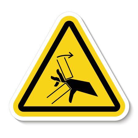 Hand Crush Pinch Point Symbol Sign Isolate on White Background,Vector Illustration  Çizim
