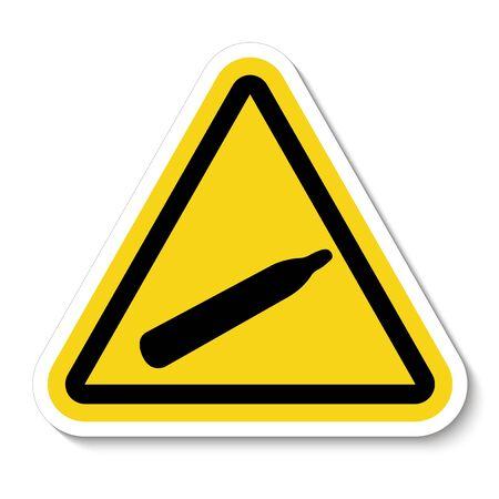 Danger Pressure Gas Symbol Sign Isolate On White Background,Vector Illustration  Çizim