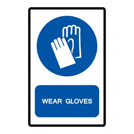 Wear Gloves Symbol Sign Isolate on White Background,Vector Illustration Illustration