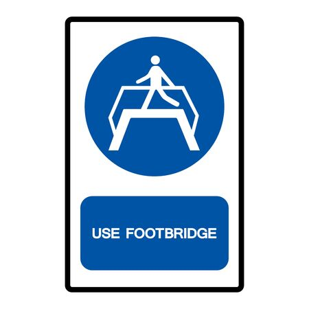Use Footbridge Symbol Sign Isolate on White Background,Vector Illustration Иллюстрация