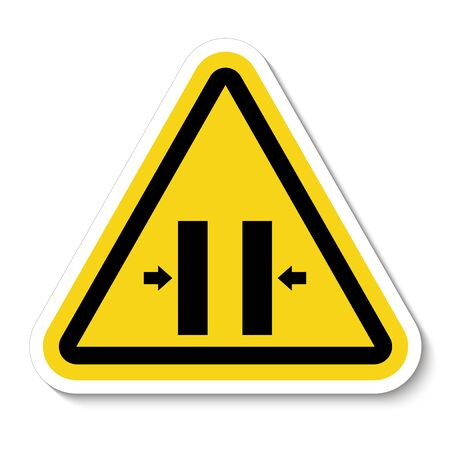 Crush Hazard Closing Mold Symbol Sign Isolate on White Background,Vector Illustration