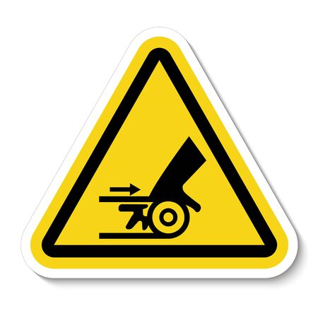 Beware Moving Machinery Symbol Sign Isolate On White Background,Vector Illustration
