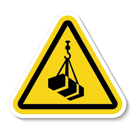Beware Overhead Load Symbol Isolate On White Background,Vector Illustration  Illusztráció