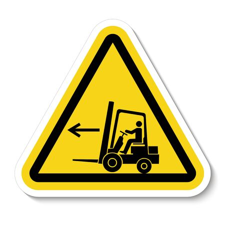 Forklift Point Left Symbol Sign Isolate On White Background,Vector Illustration  Illustration