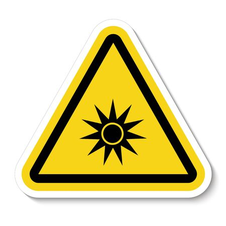 Beware Optical Radiation Symbol Isolate On White Background,Vector Illustration EPS.10