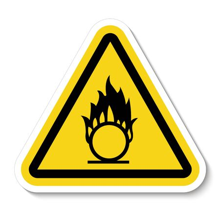 Beware Oxidizing Substance Symbol Isolate On White Background,Vector Illustration EPS.10  Illustration