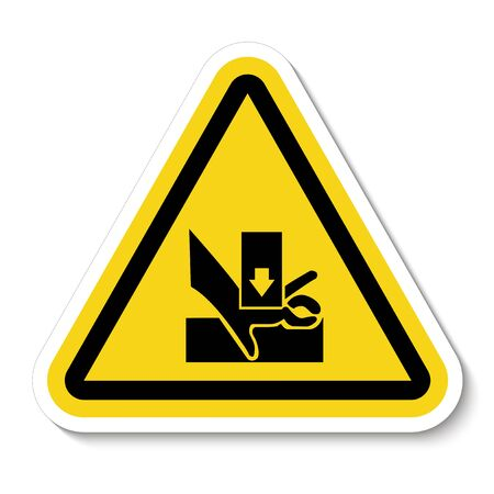 Beware You Hand When Using Silkscreen Symbol Sign Isolate On White Background,Vector Illustration