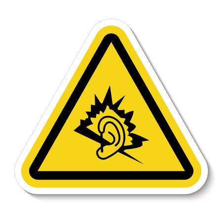 Noise Symbol Sign Isolate On White Background,Vector Illustration  Ilustracja