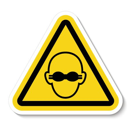 Symbol Wear Opaque Eye Protection Sign Isolate On White Background,Vector Illustration EPS.10