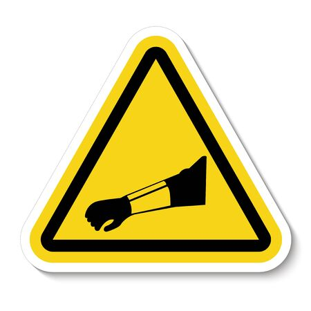 Symbol Wear Arm Protection Sign Isolate On White Background,Vector Illustration EPS.10  Çizim