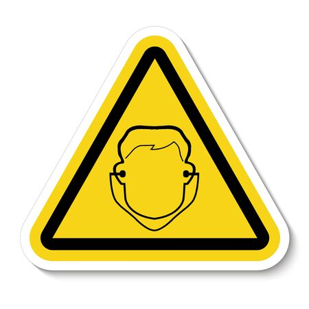 Symbol Wear Ear Plug Sign Isolate On White Background,Vector Illustration EPS.10