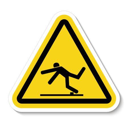 Beware Trip Hazard Symbol Isolated On White Background, Vector Illustration Illustration