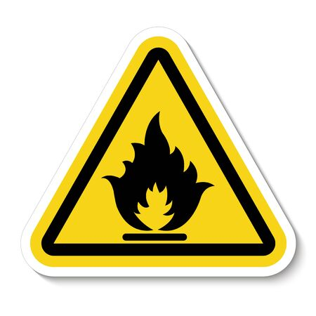 Beware Flammable Gas Symbol Isolate On White Background, Vector Illustration Фото со стока - 133454388