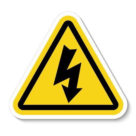 Danger High Voltage Symbol Isolated On White Background, Vector Illustration