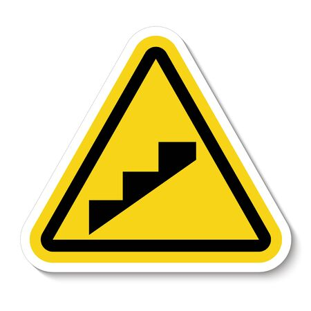 Beware Slope Step Symbol Isolate On White Background,Vector Illustration EPS.10 Imagens - 133282595