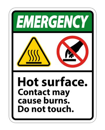 Safety Hot Surface Do Not Touch Symbol Sign Isolate on White Background,Vector Illustration  Stock Illustratie