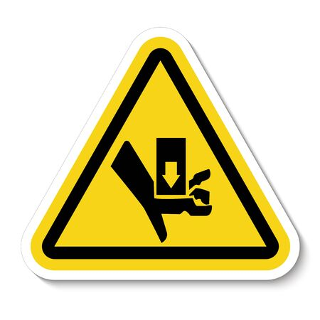 Warning Moving Part Crush and Cut Symbol Sign Isolate On White Background, Vector Illustration