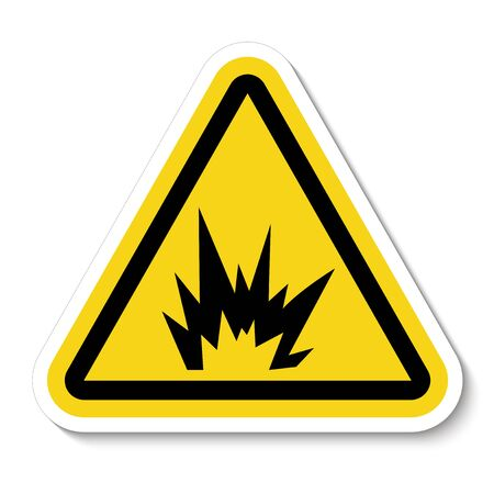 Arc Flash Hazard Symbol Sign, Vector Illustration, Isolate On White Background Label