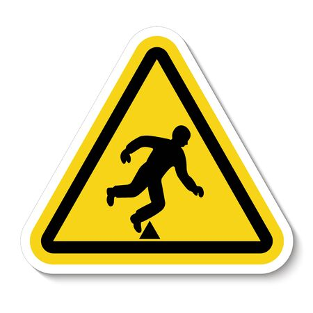 Trip Hazard Symbol Sign Isolate On White Background, Vector Illustration